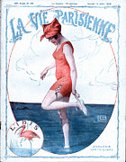Swimsuits  Swimming Costumes Posters - La Vie Parisienne 1918 1910s France Poster by The Advertising Archives