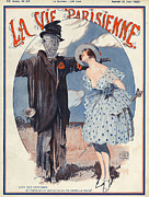 Featured Metal Prints - La Vie Parisienne  1920 1920s France Metal Print by The Advertising Archives