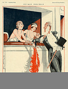 Mens Drawings Prints - La Vie Parisienne 1924 1920s France H Print by The Advertising Archives