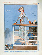 Vacations Drawings Prints - La Vie Parisienne  1930 1930s France Cc Print by The Advertising Archives