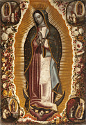 Virgen De Guadalupe Paintings - La Virgen De Guadalupe by Manuel de Arellano