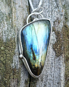 Lights Jewelry Originals - Labradorite Spiral Pendant by Arianna Bara