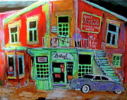 Canadiens Paintings - Lachine Bistro by Michael Litvack