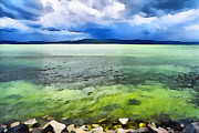 Balaton Paintings - Lake Balaton Hungary by Odon Czintos