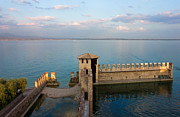 Fortification Posters - Lake Garda Panoramic Sunset View Poster by Kiril Stanchev