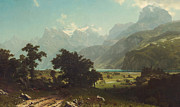 Famous Artists - Lake Lucerne by Albert Bierstadt