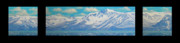 Snowscape Paintings - Lake Tahoe After the Storm Triptych by Frank Wilson