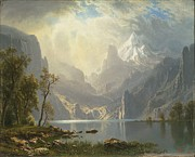 Famous Artists - Lake Tahoe by Albert Bierstadt