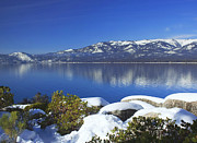 Winter Scene Metal Prints - Lake Tahoe Winter Metal Print by Kim Hojnacki