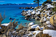 Sand Harbor Photos - Lake Tahoe Winterscape by Scott McGuire