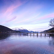 Lake Tapestries Textiles - Lake Wakatipu Queenstown New Zealand by Colin and Linda McKie