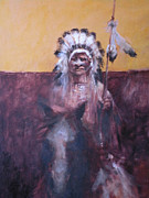 Cheif Prints - Lakota Cheif Print by Ray Mitchell