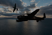 Rolls Royce Digital Art - Lancaster and Spitfire by Paul Heasman