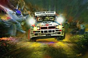 World Rally Championship Posters - Lancia Delta Group A Poster by Michael Kapten