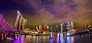 Commercial Posters - Landscaoe of Singapore business district  Poster by Anek Suwannaphoom