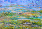 Balkan Paintings - Landscape after Rassuman by Regina Valluzzi