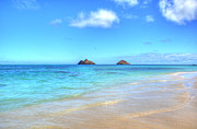 Lanscape Metal Prints - Lanikai Beach Oahu Hawaii Metal Print by Kelly Wade