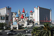 Lights Framed Prints - Las Vegas - Excalibur Casino - 12121 Framed Print by DC Photographer