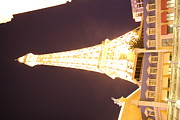 Tower Prints - Las Vegas - Paris Casino - 121215 Print by DC Photographer
