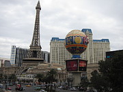 Decor Photo Framed Prints - Las Vegas - Paris Casino - 12123 Framed Print by DC Photographer