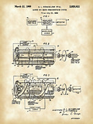Light Emission Posters - Laser Patent Poster by Stephen Younts