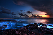 Ocean Shore Photo Posters - Last Light Poster by Chad Dutson