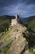 Ramparts Framed Prints - Lastours castle Framed Print by Ruben Vicente