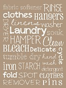 Poster Framed Prints Digital Art - Laundry Room by Jaime Friedman