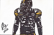 Pittsburgh Steelers Drawings Posters - Lawrence Timmons Poster by Jeremiah Colley