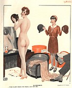 Vintage Posters - Le Sourire 1920s France Erotica Sales Poster by The Advertising Archives