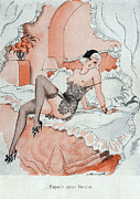 20Õs  Metal Prints - Le Sourire  1920s France Erotica Metal Print by The Advertising Archives