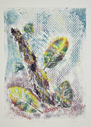 Collagraph Prints - Leaf Litter and Log Print by J L Carothers