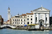 Tourist Destinations Prints - Leaning campanile of San Giorgio dei Greci church Print by Sami Sarkis