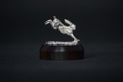 Gifts Sculpture Originals - Leaping Hare by Edward  Waites