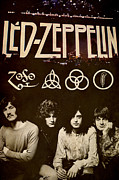 Rock And Roll Digital Art Originals - Led Zeppelin by Farhad Tamim