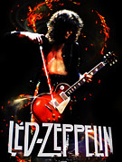 Led Zeppelin Prints Metal Prints - Led Zeppelin Metal Print by FHT Designs