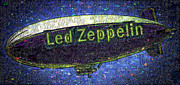 Robert Plant Digital Art Posters - Led Zeppelin Poster by RJ Aguilar