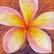 Plumeria Paintings - Leelawadee by Atiketta Sangasaeng