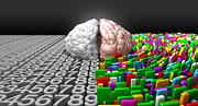 Left Brain Right Brain Print by Allan Swart