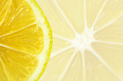 Lemon Close Up Print by Deyan Georgiev