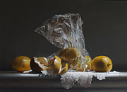 Realist Framed Prints - Lemons Framed Print by Larry Preston