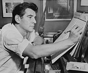 Bernstein Posters - Leonard Bernstein Poster by Mountain Dreams