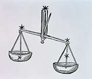 Libra An Illustration From The Poeticon Print by Italian School