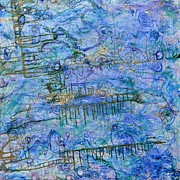 Drip Paintings - Life Engine by Regina Valluzzi