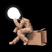 Simon Bratt Photography - Light bulb box man...
