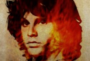 Jim Morrison Digital Art Posters - Light my Fire Poster by Stefan Kuhn