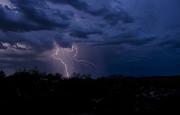 Arizona Lightning Prints - Light Up the Sky  Print by Saija  Lehtonen