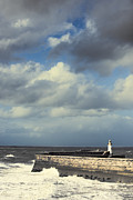 Sea Wall Prints - Lighthouse At Whitehaven Print by Christopher and Amanda Elwell