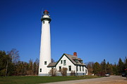 Island Prints - Lighthouse - Presque Isle Michigan Print by Frank Romeo