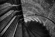 Georgia Photos - Lighthouse Stairs - Black and White by Peter Tellone